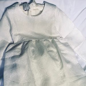 Little Girls White Communion Dress